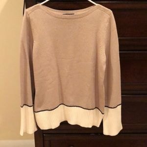 NWT Ann Taylor colorblock boatneck sweater